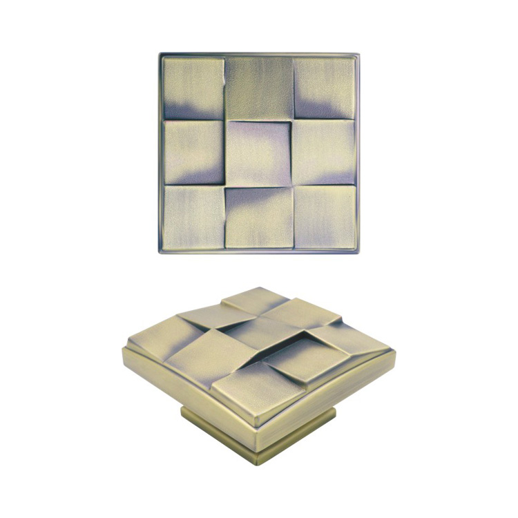 chinese supplier zinc alloy square shape door knobs for woody doors