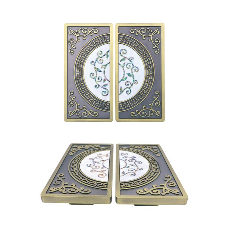 chinese decorative pattern design zinc alloy door knobs for interior doors