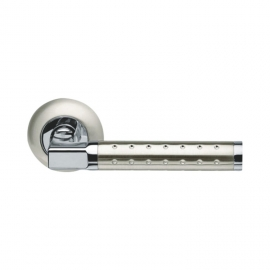 sn/cp zinc alloy spot door handle on round rose