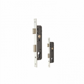 Small Size Backset Steel Lock Body For Wood Doors Euro Profile Cylinder
