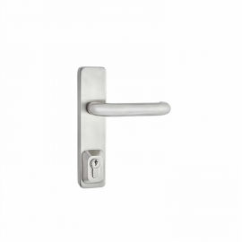 Stainless Steel Panic Exit Door Handle On Faceplate