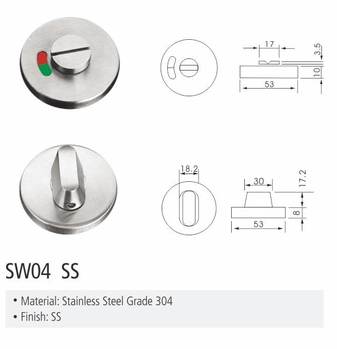 hot selling new design big thub-turn indicator bathroom locks