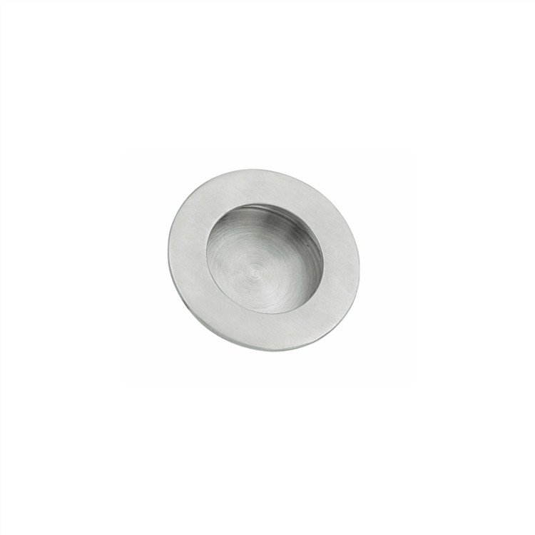 round concealed flush pull handle, 14mm height only, size 30/40/50/60/65/70