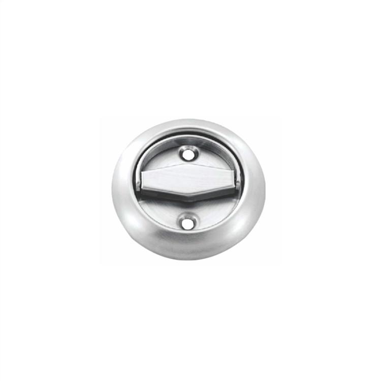 stainless seel round recessed door handles flush finger pulls