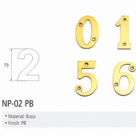 Brass material house number