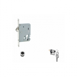 stainless steel sliding door hook locks with cylinder for wooden doors