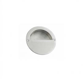 stainless steel round concealed flush pull handle, 20mm height, size 60/65/70/90