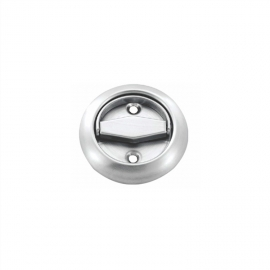 stainless seel round recessed door handles flush finger pulls