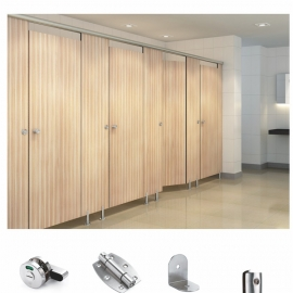 stainless steel partition wall system  with indicator lock. elastic hinge etc.