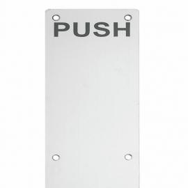 400x100 stainless steel door push plate