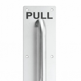 high quality stainless steel door pull handle on plate 300x100mm