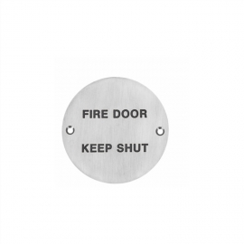 FIRE DOOR KEEP SHUT symbol