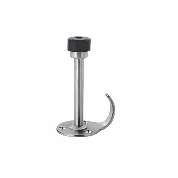 Wall mounted stainless steel door stops with coat hooks