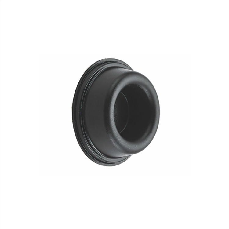 children safety black rubber door stopper wall mounted to protect the wall