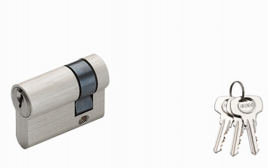customized design brushed nickel euro profile brass cylinders locks