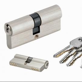 70mm Nickel Euro Mortise Lock Cylinder With Masker Key