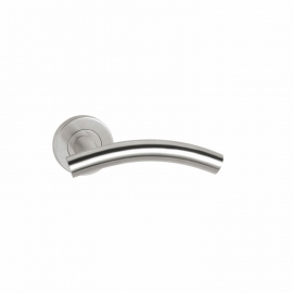 Stainless steel hollow lever door handles for interior doors