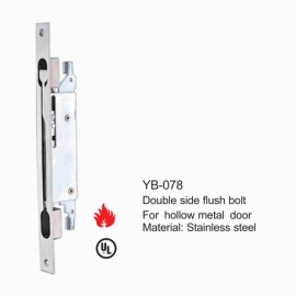 Double side Flush bolt for mental Door