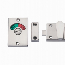 Zinc alloy lateral door bolt for toilet door