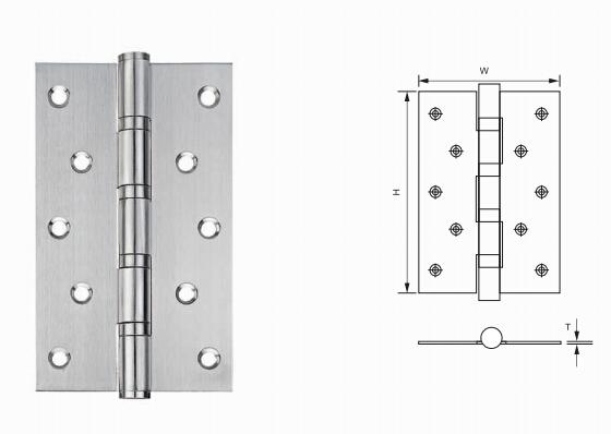 8 inch Inox Bearing Butt Door Hinge for Interior Door