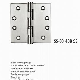4 Ball Bearing Butt Door Hinge for interior Door
