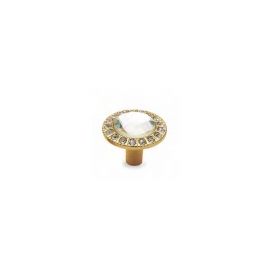 Small Crystal Furniture Knob With Real Gold Plated