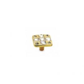 Square shape Crystal Furniture Knob