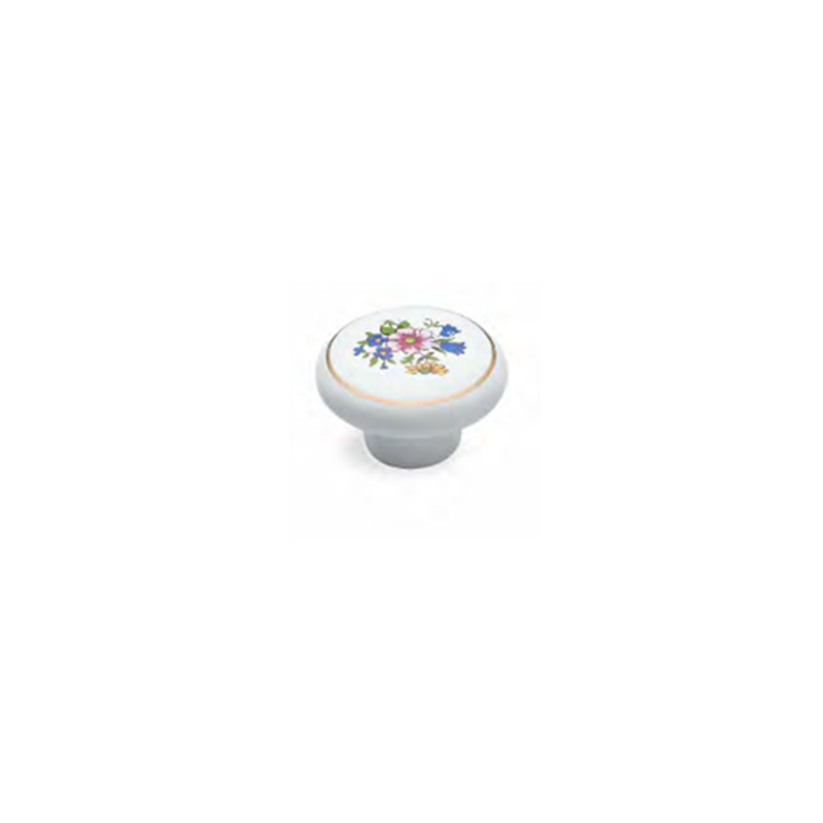 Ceramic Knob With Flower Pattern