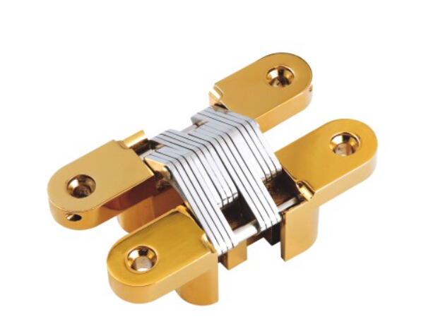 34x140mm Coffee Color Stainless Steel 304 Concealed Hinge