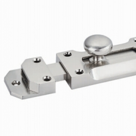 Zinc alloy Satin Nickel Barrel Door Bolt