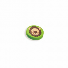 Lovely Rubber Knob With Lion Image