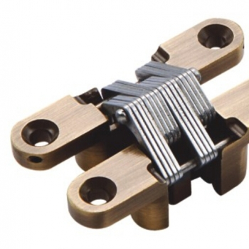 25x118mm Antique Bronze Concealed Door Hinge