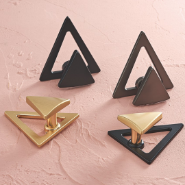 Triangle shaped cabinet knobs